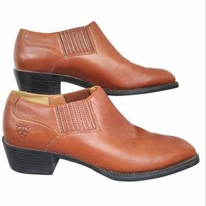 Ariat Sonora 16528 Womens Sz 6.5B Cognac Bootie